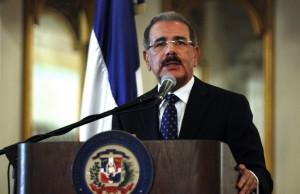 DANILO MEDINA PRESIDENTE REPUBLICA DOMINICANA PODIUM PALACIO